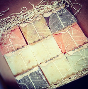 Assorted Natural Soaps, 12 Half Bars Set