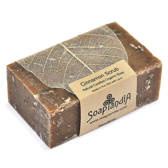 Cinnamon Scrub Bar Soap, Organic