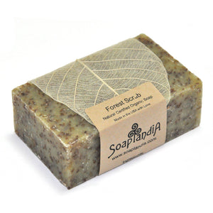 Forest Scrub Bar Soap, Certified Organic