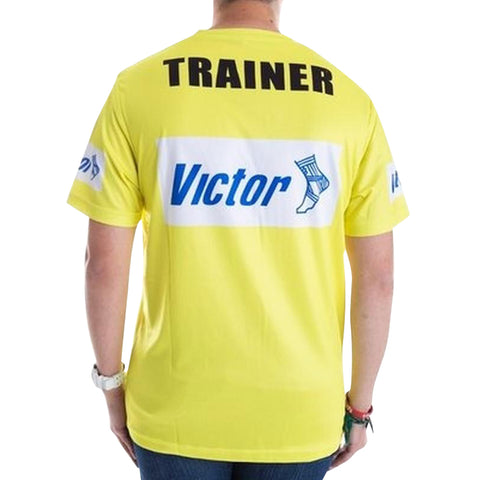 Victor Trainers  T-SHIRT - YELLOW - Club Medical