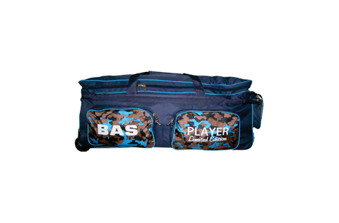 BAS CRICKET BAG PLAYER EDITION WHEELIE BLACK