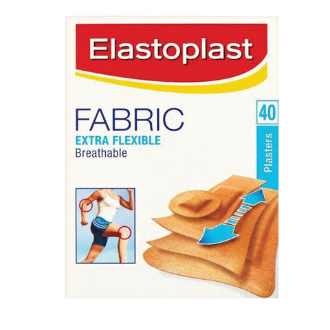 Elastoplast Assorted Fabric Extra Flexible Plaster - 40 pack - Club Medical