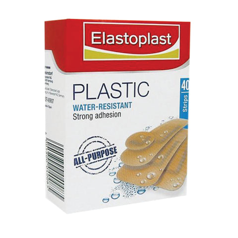 Elastoplast Plastic Water-Resistant Plasters Assorted - 40 pack - Club Medical