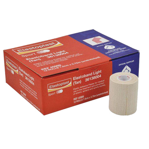 Elastoplast Elastoband Light Bandage 7.5cm [12 Rolls] - Club Medical