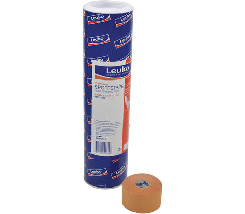 LEUKO PREMIUM SPORT TAPE 3.8CM 8 ROLLS - Club Medical