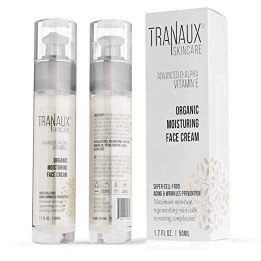 TraNaux Skincare Vitamin E Moisturizing Facial Cream - Anti-Aging