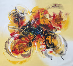 hand painted art work of abstract strokes hendriawan art access asia