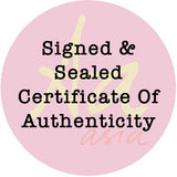 Signed & Sealed Certificate of Authenticity