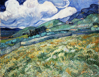 Landscape from Saint-Rémy (1889), Vincent van Gogh