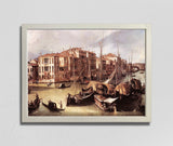 Grand Canal, looking North-East toward the Rialto Bridge (1825), Canaletto