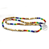Buddhist hot selling meditation OM symbol 108 beads bracelet