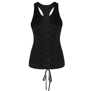 Univibe Women Psytrance festival braided tribal tank top