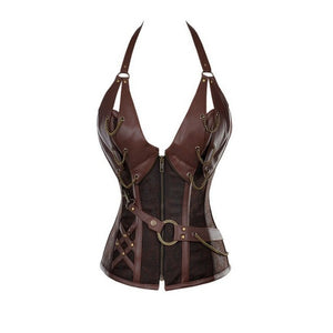 univibe clothing store Vintage steampunk bustier  psytrance corset