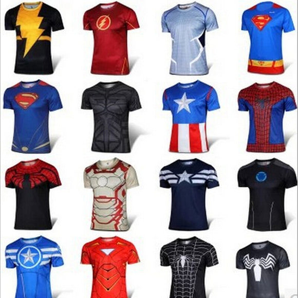 HOT SELLING! Superhero T shirts L-4XL