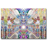 univibe wall decor Psychedelic Trippy Art Silk Fabric Poster Print