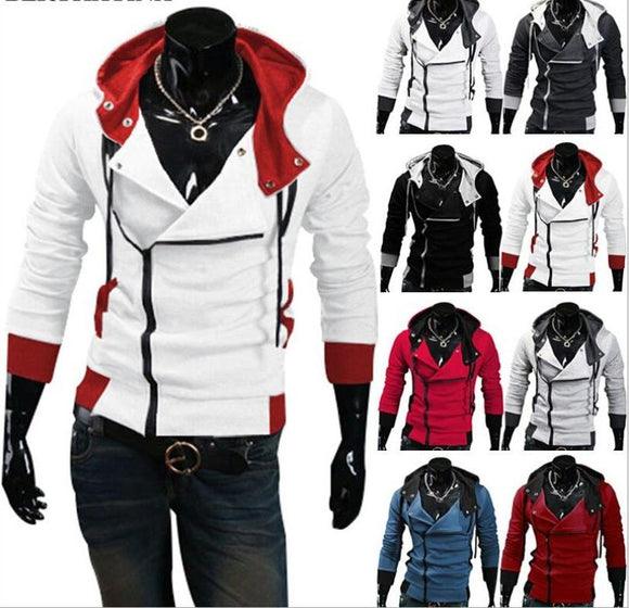 M-6XL Men's Hooded streetwear Jacket zipper hoodie