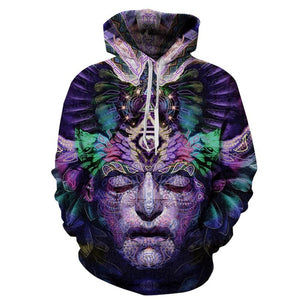 Univibe clothing Unisex Hooded psychedelic trippy meditation  third eye sweater