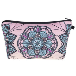 Top selling Women's MANDALA Makeup psychedelic cosmetic bag