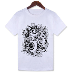 Univibe clothing Women fashion Retro Om symbol  T-shirt