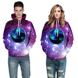 Unisex space galaxy Hooded sweater