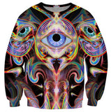UNISEX Third eye visions trippy psychedelic sweater