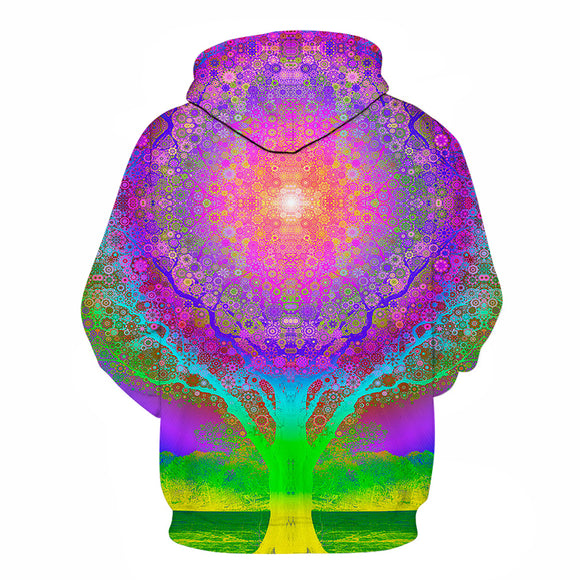 Unisex psychedelic trippy tree of life hoodie univibe clothing