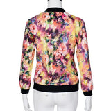 Women's spring floral printed zipper jacket