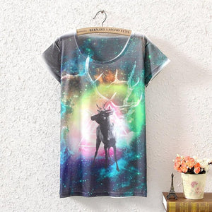 NEW ARRIVAL Women's colorful boho style  3D GALAXY T-shirt