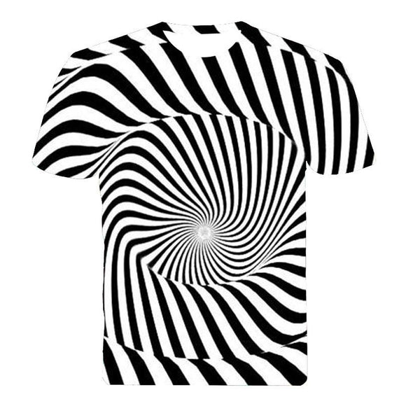 Men's hypnotic optical illusion swirling trippy T-Shirt