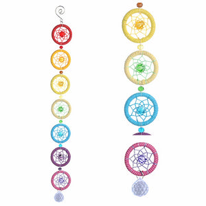 Univibe Wall hanging CHAKRAS with crystal home decoration