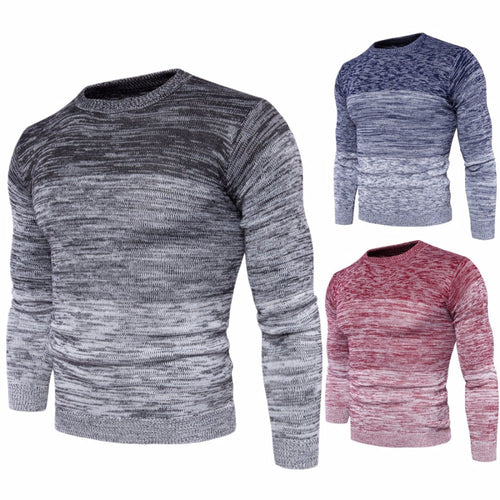Univibe Men's Gradient Colored cotton knitted sweater