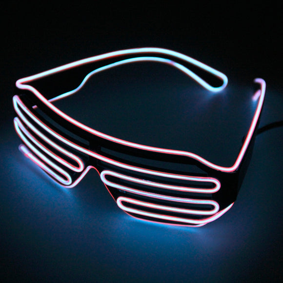 Flashing LED glowing festival party glasses