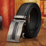 Mens fashion-street style designer leather belt with automatic buckle