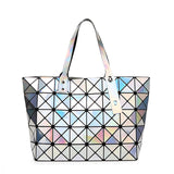 univibe clothing Geometric psychedelic luminous trippy tote bag