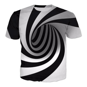 TOP SELLING! Men Hypnotic optical illusion T-shirt