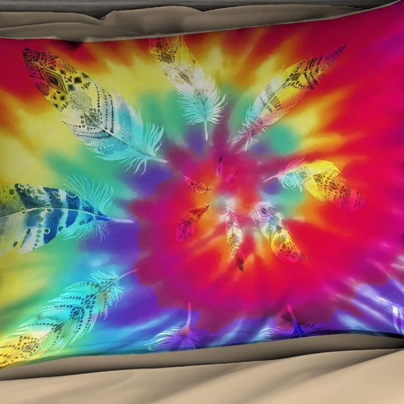 Psychedelic Trippy Tie Dye Pattern Bedding Set In Various Sizes 3pcs