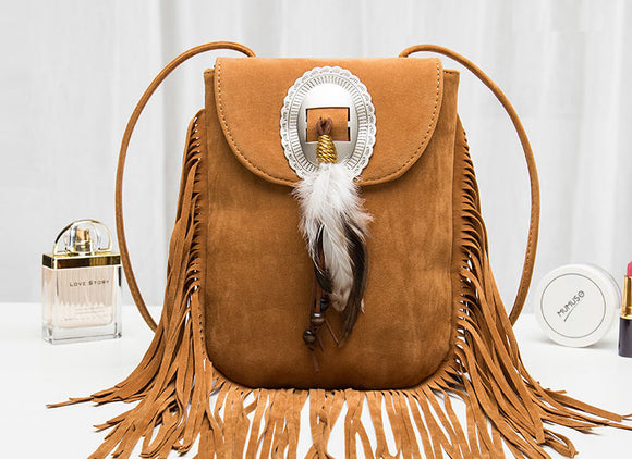 Women Bohemian fringe crossbody Bag univibe clothing
