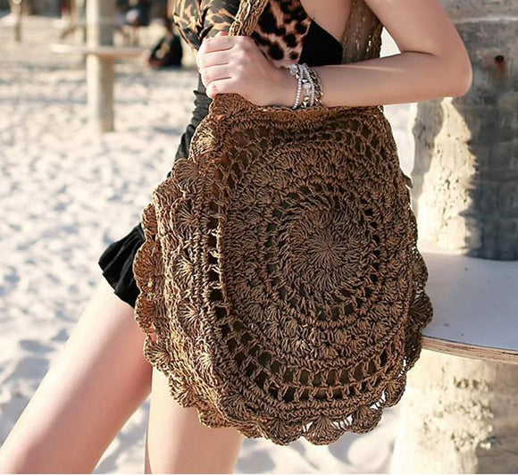 Univibe clothing Women Big Bohemian Beach knitted Handbag