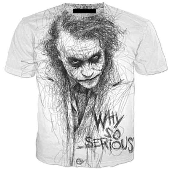 Univibe clothing Why So Serious popular hot sellingT shirt Plus 5XL