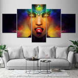 NEW ARRIVAL! 5 printed pieces of psychedelic LSD trippy canvas Painting