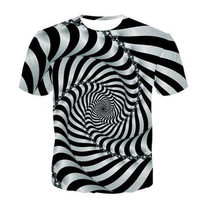 Univibe clothing psychedelic trippy  Unisex optical illusion fractal t-shirt