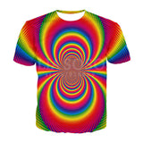 Unisex optical illusion fractal t-shirt -large variety too choose !