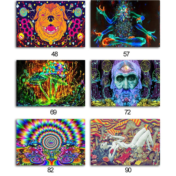 Univibe Psychedelic trippy poster print for home decor