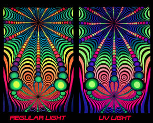 univibe UV/blacklight psychedelic wall hanging