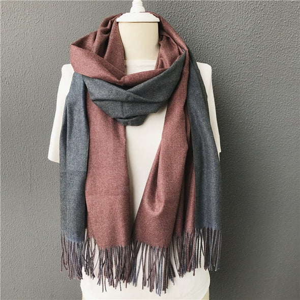 Amelia double-side soft cashmere scarves