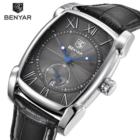 Square Men Watch Business Waterproof