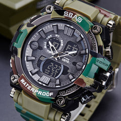 Camouflage Army Military Watch LED