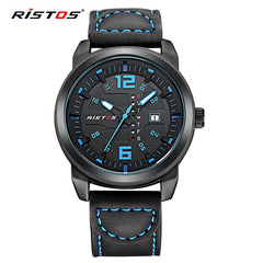 Men Quartz Analog Watch Casual Leather Watches