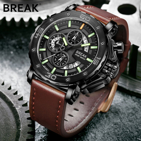Men Luxury Brand Leather Strap Casual