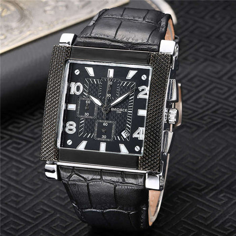 Men Business Wrist Watch Casual Square